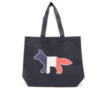 Tricolour Fox-print Canvas Tote Bag