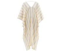 Aiolos Striped Cotton-blend Kaftan