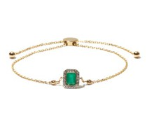 May Emerald, Diamond & 14k Gold Bracelet