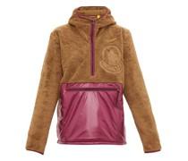 Hooded Fleece And Shell Half-zip Jacket