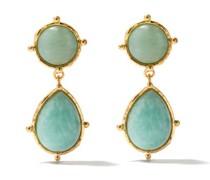 2 Pierres Dot Amazonite Clip Earrings