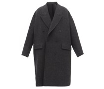 Double-breasted Boiled Wool Coat