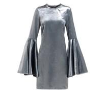 Dogma Flared-sleeve Velvet Mini Dress