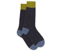 Thornham Ribbed-knit Socks