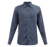 Patch-pocket Lyocell-twill Shirt