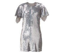 Open-back Sequinned Mini Dress