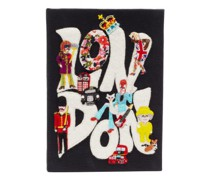 X Racil London Embroidered Book Clutch