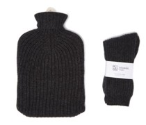 Cashmere Hot Water Bottle Cover And Socks Set
