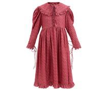 Lisi Floral-print Cotton-corduroy Dress