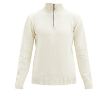 Zipped Merino Wool-blend Sweater