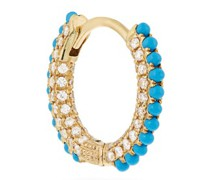 Diamond, Turquoise & 18kt Gold Earring