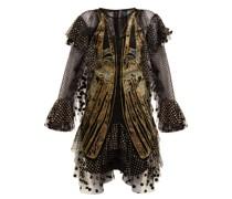 Exoskeleton Embroidered-tulle Dress