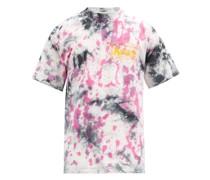 Logo-print Tie-dye Cotton-jersey T-shirt