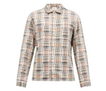 Patched Check Cotton Shirt