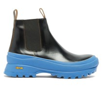 Chunky-sole Leather Chelsea Boots