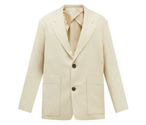 Conde Single-breasted Cotton-blend Suit Jacket