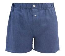 Slim-fit Linen Boxer Shorts