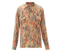 Housatonic Louie Floral-print Silk Shirt