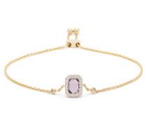 February Diamond, Amethyst & 14kt Gold Bracelet