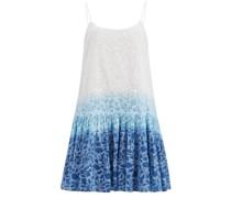 Shadow Flower-print Cotton-voile Mini Dress