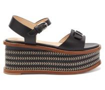 Hill Leather Platform Sandals
