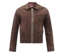 Dad Topstitched Organic-cotton Twill Jacket