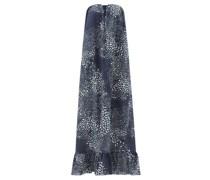 Serpent Abstract-print Strapless Cotton Maxi Dress