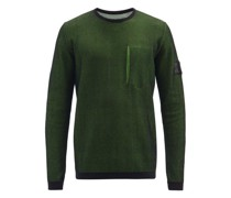 Logo-patch Cotton-jersey And Mesh Sweatshirt
