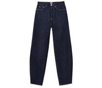 High-rise Barrel-leg Jeans