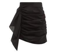 Hannah Ruched Cotton Mini Skirt