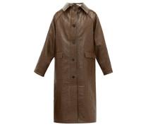 Vinyl-coated Linen-blend Coat