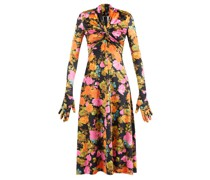 Primrose High-neck Floral-print Jersey Dress