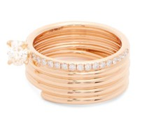 Blast 18kt Rose-gold & Diamond Ring