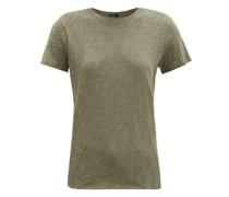 Round-neck Slubbed Cotton-jersey T-shirt