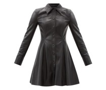Nara Faux-leather Mini Shirt Dress