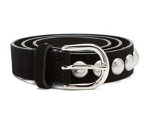 Zap Slim Studded Leather Belt