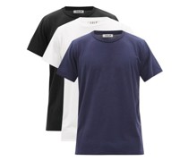 Pack Of Three Lyocell-blend Jersey T-shirts