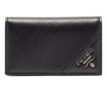 Bi-fold Saffiano-leather Wallet