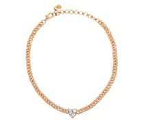 Heart Diamond & 18kt Rose-gold Choker
