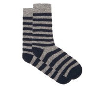 Cosmonaut Striped Merino Wool-blend Socks