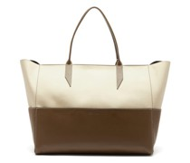 Incognito Large Cabas And Leather Tote Bag