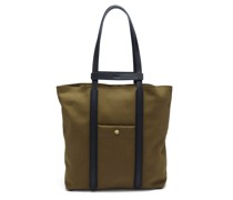 Raise Two-in-one Canvas & Leather Tote Bag