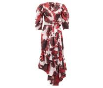 Floral-print Cotton-voile Wrap Dress
