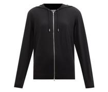 Zipped Merino-wool Hooded Sweatshirt