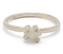 Raw Diamond & Sterling-silver Ring