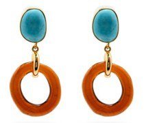 Bilbao Turquoise & Gold-plated Drop Earrings