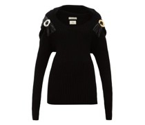 Embellished Ribbed Wool-blend Sweater