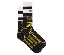 X Reebok Logo-jacquard Cotton-blend Socks