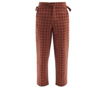 Hillsdale Sunset Plaid Wool Trousers
