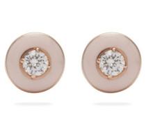 Mina 18kt Rose Gold, Diamond & Enamel Earrings